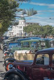 vintage cars in napier art deco festival new zealand new