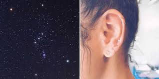 pierced ears without earrings constellation ear piercing trend cool earring ideas