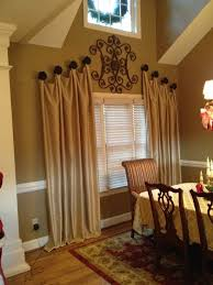 Curtain Hanging Hardware Decorating Traditional Dining Room Decorative Drapery Hardware Design For