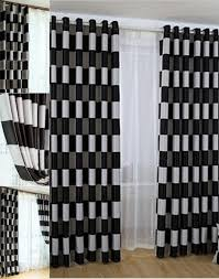 Black And White Checkered Curtains Curtain Black And White Check Curtains Best Curtains 2017 With