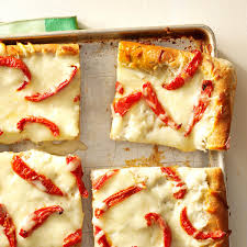 white pizza with roasted tomatoes recipe taste of home