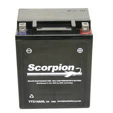 ytx14ahl bs battery scorpion 12 volt motorcycle batteries