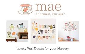 Fabric Wall Decals For Nursery Mae Adhesive Fabric Wall Stickers For Your Nursery The