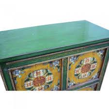 credenza tibetana credenza tibetana con sportelli base verde 77x85x40 codice ma 3221