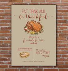 potluck invitation thanksgiving friendsgiving invitation custom printable