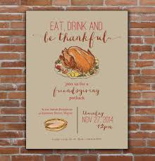 thanksgiving friendsgiving invitation custom printable