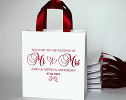 personalized wedding gift bags wedding gift bags etsy