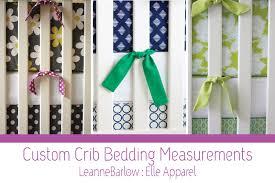 crib bedding 101 elle apparel by leanne barlow
