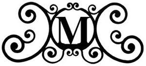 monogram plaques wrought iron monogram letter the door house plaques new black
