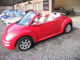 pink volkswagen beetle used 2003 volkswagen beetle cabriolet 8v for sale in chichester