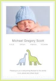 birth announcement dinosaur birth announcement personalized birth announcements