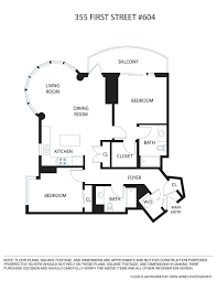 Kerry Campbell Homes Floor Plans by 355 1st Street 604 San Francisco Ca 94105 Sold Listing Mls