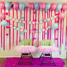 simple balloon decoration for birthday party at home fruehlingsdeko