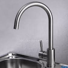 brushed nickel kitchen faucet safe stainless steel brushed nickel kitchen faucets rotatable
