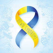 blue and yellow ribbon world day yellow and blue ribbon stock vector