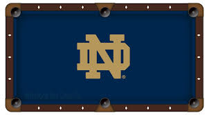 notre dame nd pool table cloth college logo felt pool table