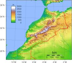 Arizona Elevation Map by File Morocco Topography Png Wikimedia Commons