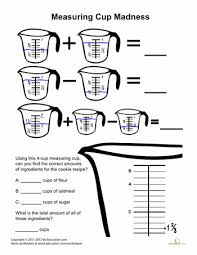 measuring cups madness measuring cups measuring cup and worksheets