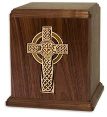 wooden celtic cross celtic cross cremation urns memorials