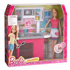 Barbie Dream Furniture Collection by Barbie Doll And Kitchen Set Walmart Com