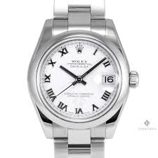 rolex oyster bracelet stainless steel images Midsize rolex datejust stainless steel white roman numeral dial jpg