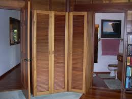 furniture rustic natural teak wood folding closet doors for small