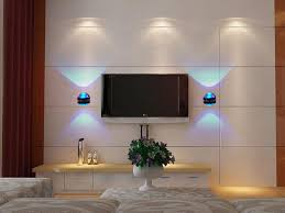 wall lights living room modern led wall lights with blue light on family room with a led