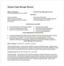 24 project manager resume template word 10 project manager resume