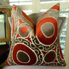 decorative pillows for living room luxury decorative pillows red brown high end couch pillow living