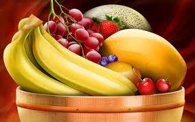 glass fruits ornamental objects