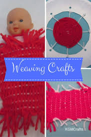 weaving crafts for kids on homemade looms