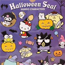 Halloween Stickers Funny Hello Kitty Halloween Stickers With Gold Metallic By Kamio