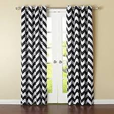 Chevron Design Curtains Amazon Com Black And White Chevron Window Treatment Zig Zag