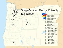 Portland Oregon County Map by How Family Friendly Are Oregon U0027s 20 Biggest Cities U2013 Estately Blog
