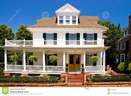 house with porch white house with porch stock images image 2421364