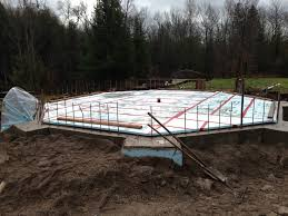 sea container cabin foundations 10 back filled and insulated