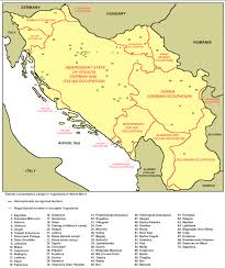 Yugoslavia Map Map With List Of Concentration Camps In Occupied Yugoslavia