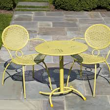 patio bistro table and chairs enchanting yellow bistro table with patio astonishing patio bistro