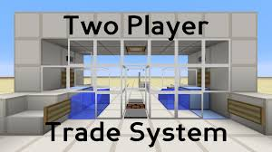 minecraft two player trade system redstone tutorial youtube