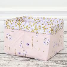 Gold Crib Bedding by Lilac U0026 Gold Sparkle Fabric Storage Bins Caden Lane