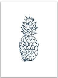 Pineapple Wall Sconce Navy Blue Pineapple Wall Art Print U0026 Reviews Allmodern