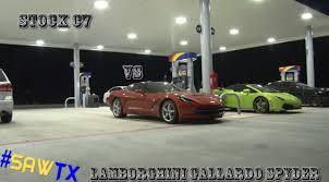 corvette vs lamborghini corvette c7 stingray vs lamborghini gallardo drag race corvetteforum