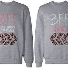 best sweater bff floral print grey sweatshirts from 365 printing inc