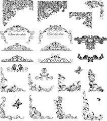 floral ornaments for wedding vector free vector 96 132