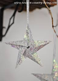 glitter diy ornaments town country living