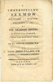 sermon thanksgiving 1783 massachusetts wallbuilders