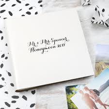 honeymoon photo album modern calligraphy leather honeymoon album begolden