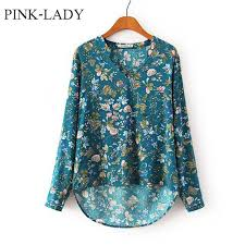 rayon blouse womens casual v neck flower printed sleeve rayon