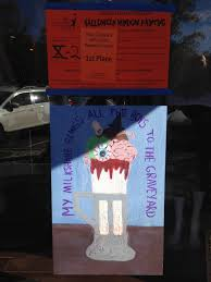 halloween window painting winners