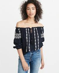shoulder top womens tops abercrombie fitch